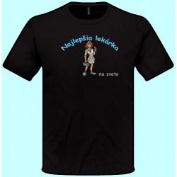 Tričká s potlačou - Najlepšia lekárka (pánske tričko)