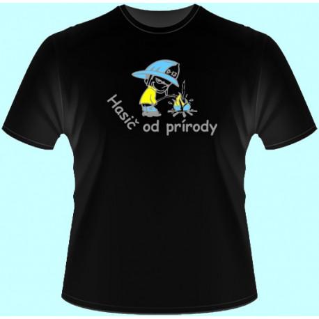 Tričká s potlačou - Hasič od prírody (dámske tričko)