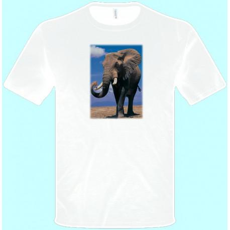 Tričká s potlačou zvierat - Slon (pánske tričko)