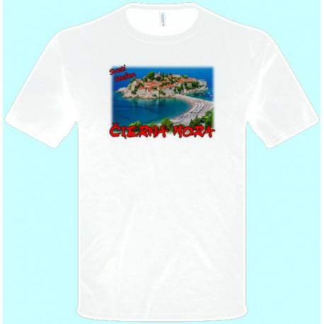 Tričká s potlačou - Čierna Hora (pánske tričko)