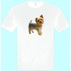 Tričká s potlačou zvierat - Jorkšírsky teriér (pánske tričko)