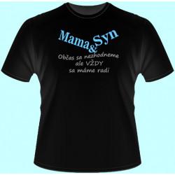 Tričká s potlačou - Mama a syn (dámske tričko)