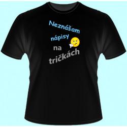 Tričká s potlačou - Neznášam nápisy na tričkách (dámske tričko)