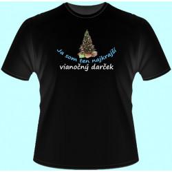 Tričká s potlačou - Ja som ten najkrajší vianočný darček 3 (dámske tričko)