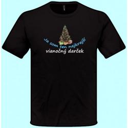Tričká s potlačou - Ja som ten najkrajší vianočný darček 3 (pánske tričko)