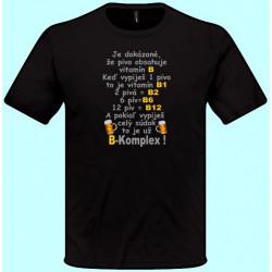 Tričká s potlačou - Pivo obsahuje vitamín B (pánske tričko)
