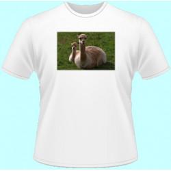 Tričká s potlačou zvierat - Lama (dámske tričko)