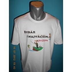 Tričká s nápismi - Rybár s najväčším prútom