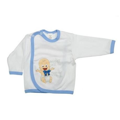 Mami oci postískať si prosím (modrá) - Prekladací kabátik