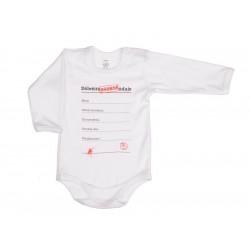 Dôležité osobné údaje - Detské body (Dlhý rukáv)