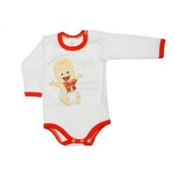Mami oci postiskať si prosím (červená) - Detské body (Dlhý rukáv)