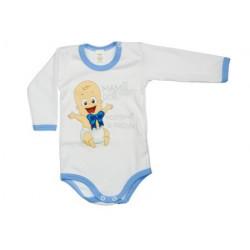 Mami oci postískať si prosím (modrá) - Detské body (Dlhý rukáv)
