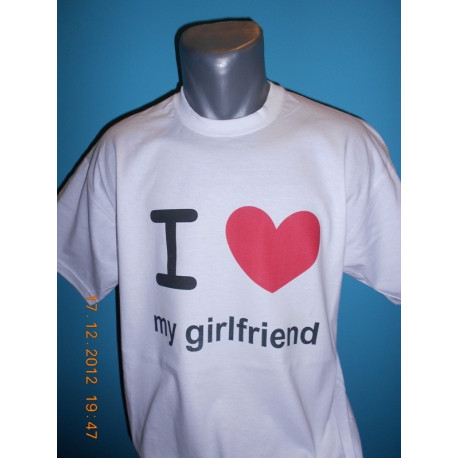 Tričká s nápismi - I love my girlfriend