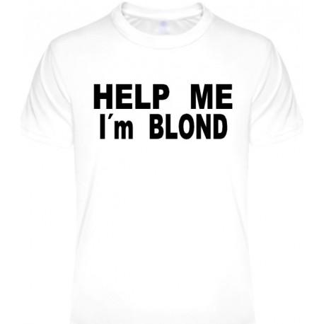 Tričká s nápismi - Help me Im blond