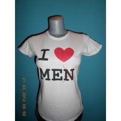 Tričká s nápismi - I Love Men