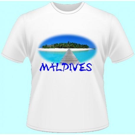 Tričká s potlačou - Maledivy (dámske tričko)