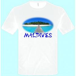 Tričká s potlačou - Maledivy (pánske tričko)