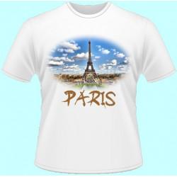 Tričká s potlačou - Paríž (dámske tričko)
