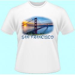 Tričká s potlačou - San Francisco (dámske tričko)