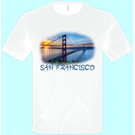 Tričká s potlačou - San Francisco (pánske tričko)