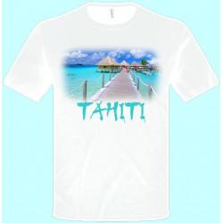 Tričká s potlačou - Tahiti (pánske tričko)