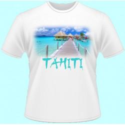 Tričká s potlačou - Tahiti (dámske tričko)